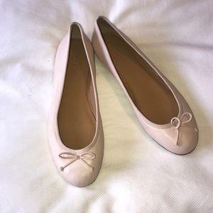 Jcrew light pink leather ballet flats size 10